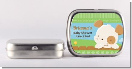 Puppy Dog Tails Neutral - Personalized Baby Shower Mint Tins