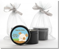 Puppy Dog Tails Neutral - Baby Shower Black Candle Tin Favors