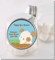 Puppy Dog Tails Neutral - Personalized Baby Shower Candy Jar