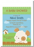 Puppy Dog Tails Neutral - Baby Shower Petite Invitations