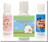 Puppy Dog Tails Neutral - Personalized Baby Shower Lotion Favors