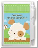 Puppy Dog Tails Neutral - Baby Shower Personalized Notebook Favor