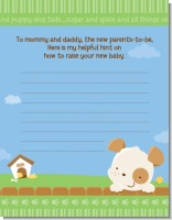 Puppy Dog Tails Neutral - Baby Shower Notes of Advice