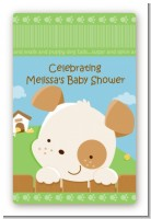 Puppy Dog Tails Neutral - Custom Large Rectangle Baby Shower Sticker/Labels
