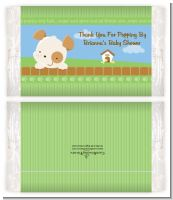 Puppy Dog Tails Neutral - Personalized Popcorn Wrapper Baby Shower Favors