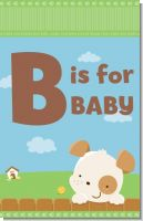 Puppy Dog Tails Neutral - Personalized Baby Shower Nursery Wall Art