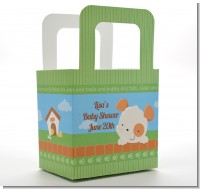 Puppy Dog Tails Neutral - Personalized Baby Shower Favor Boxes