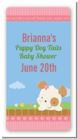 Puppy Dog Tails Girl - Custom Rectangle Baby Shower Sticker/Labels