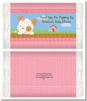 Puppy Dog Tails Girl - Personalized Popcorn Wrapper Baby Shower Favors