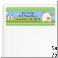 Puppy Dog Tails Neutral - Baby Shower Return Address Labels