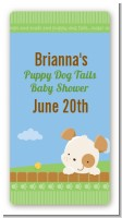 Puppy Dog Tails Neutral - Custom Rectangle Baby Shower Sticker/Labels