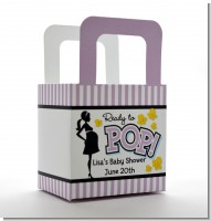 Ready To Pop Purple - Personalized Baby Shower Favor Boxes