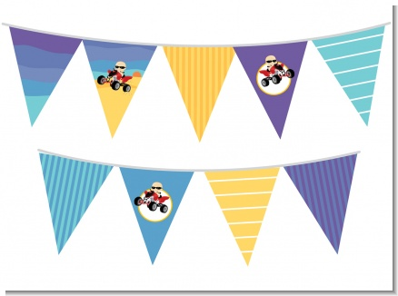 Baby On A Quad - Baby Shower Themed Pennant Set