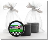 Race Car - Birthday Party Black Candle Tin Favors