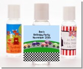 Race Car - Personalized Birthday Party Hand Sanitizers Favors