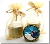 Racquetball - Birthday Party Gold Tin Candle Favors