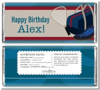 Racquetball - Personalized Birthday Party Candy Bar Wrappers
