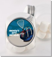 Racquetball - Personalized Birthday Party Candy Jar
