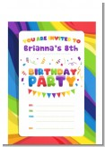 Rainbow - Birthday Party Petite Invitations
