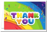 Rainbow - Birthday Party Thank You Cards