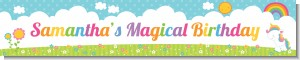 Rainbow Unicorn - Personalized Birthday Party Banners