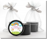 Rainbow Unicorn - Birthday Party Black Candle Tin Favors