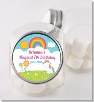 Rainbow Unicorn - Personalized Birthday Party Candy Jar