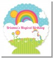 Rainbow Unicorn - Personalized Birthday Party Centerpiece Stand thumbnail