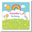 Rainbow Unicorn - Personalized Birthday Party Card Stock Favor Tags thumbnail