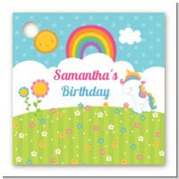 Rainbow Unicorn - Personalized Birthday Party Card Stock Favor Tags