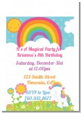 Rainbow Unicorn - Birthday Party Petite Invitations