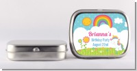 Rainbow Unicorn - Personalized Birthday Party Mint Tins
