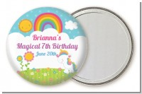 Rainbow Unicorn - Personalized Birthday Party Pocket Mirror Favors