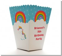 Rainbow Unicorn - Personalized Birthday Party Popcorn Boxes