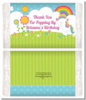 Rainbow Unicorn - Personalized Popcorn Wrapper Birthday Party Favors