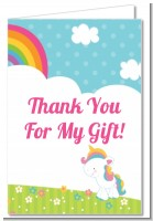 Rainbow Unicorn - Birthday Party Thank You Cards