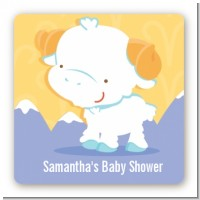 Ram | Aries Horoscope - Square Personalized Baby Shower Sticker Labels