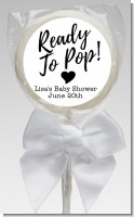 Ready To Pop Black and White - Personalized Baby Shower Lollipop Favors