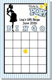 Ready To Pop Blue - Baby Shower Gift Bingo Game Card