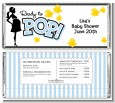 Ready To Pop Blue - Personalized Baby Shower Candy Bar Wrappers thumbnail