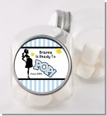 Ready To Pop Blue - Personalized Baby Shower Candy Jar
