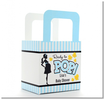 Ready To Pop Blue - Personalized Baby Shower Favor Boxes