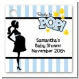 Ready To Pop Blue - Personalized Baby Shower Card Stock Favor Tags thumbnail