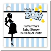 Ready To Pop Blue - Personalized Baby Shower Card Stock Favor Tags