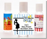 Ready To Pop Blue - Personalized Baby Shower Hand Sanitizers Favors