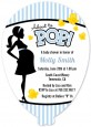 Ready To Pop Blue - Baby Shower Shaped Invitations thumbnail