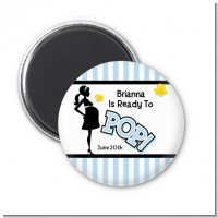 Ready To Pop Blue - Personalized Baby Shower Magnet Favors