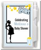 Ready To Pop Blue - Baby Shower Personalized Notebook Favor
