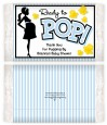 Ready To Pop Blue - Personalized Popcorn Wrapper Baby Shower Favors thumbnail
