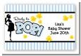 Ready To Pop Blue - Baby Shower Landscape Sticker/Labels thumbnail